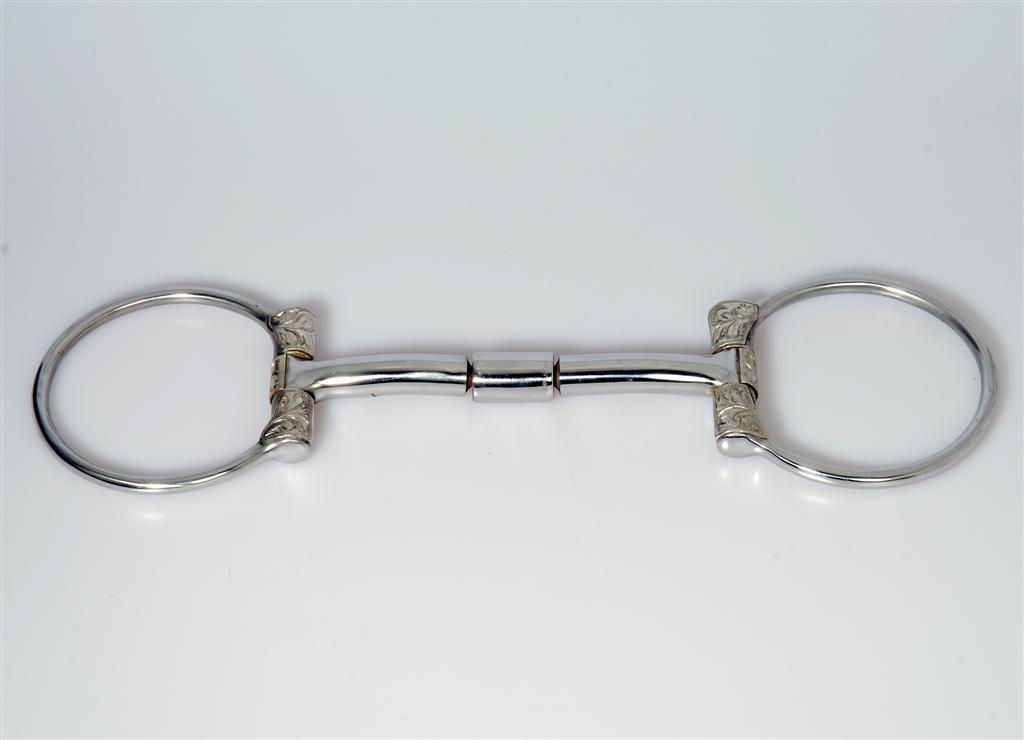 D Ring Snaffle Bit With Curb Chain B. Allen D Ring Snaffl...